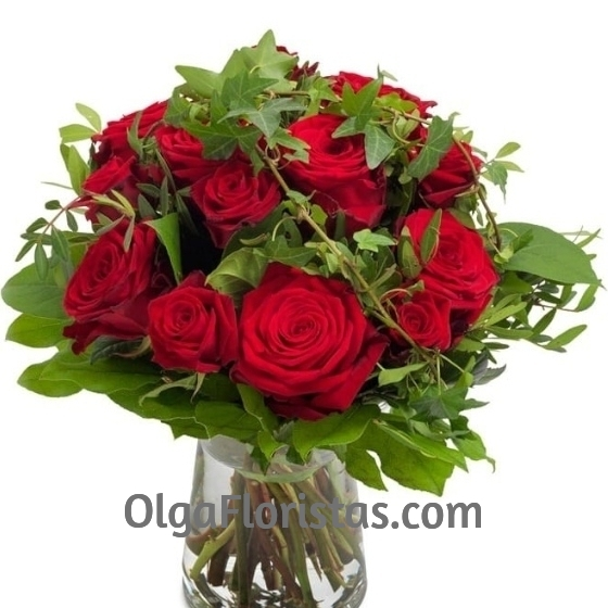 Bouquet 12 Rosas Rojas