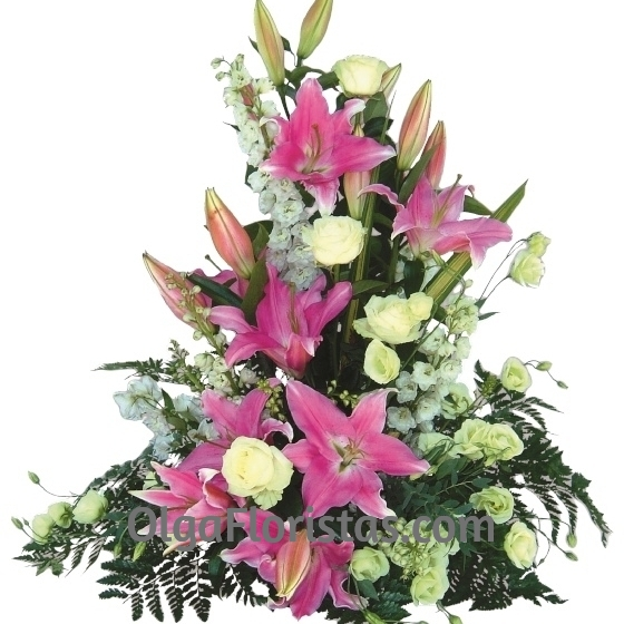 Centro de Flores Rosas